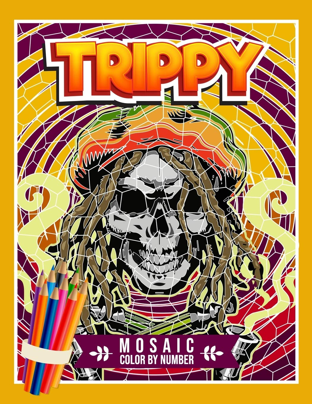 Amazon Com Trippy Mosaic Color By Number Stoner Coloring Book For Adults With Hidden Psychedelic Designs And Mystery Geometric Picture Puzzles 9798650903987 Mosley Melanie Books