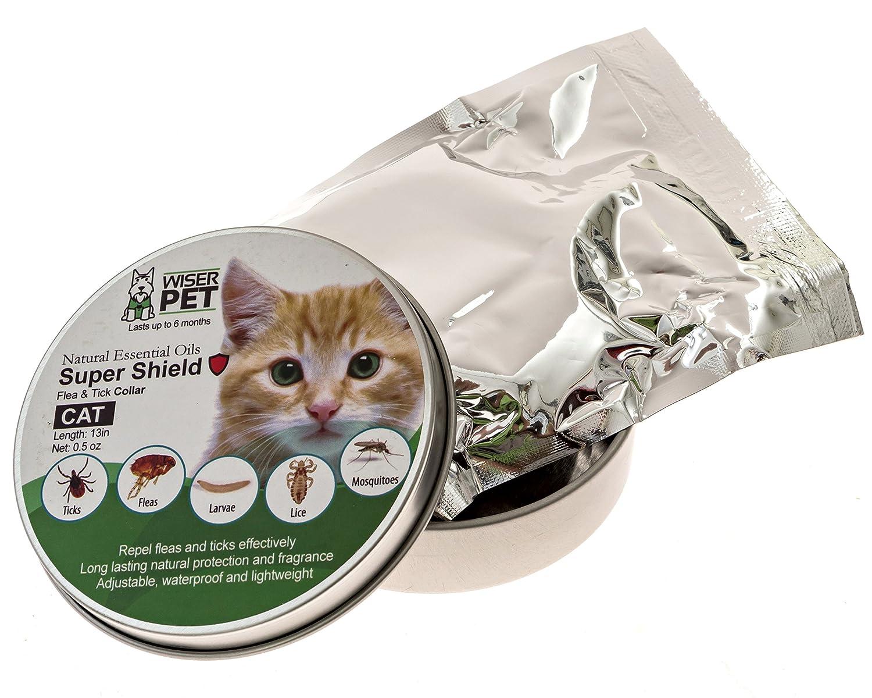 Wiser Pet Collar de pulgas para Gatos, prevención y Control de pulgas y garrapatas e Insectos, Natural, Libre de químicos y toxinas, Seguro para Mascotas y ...