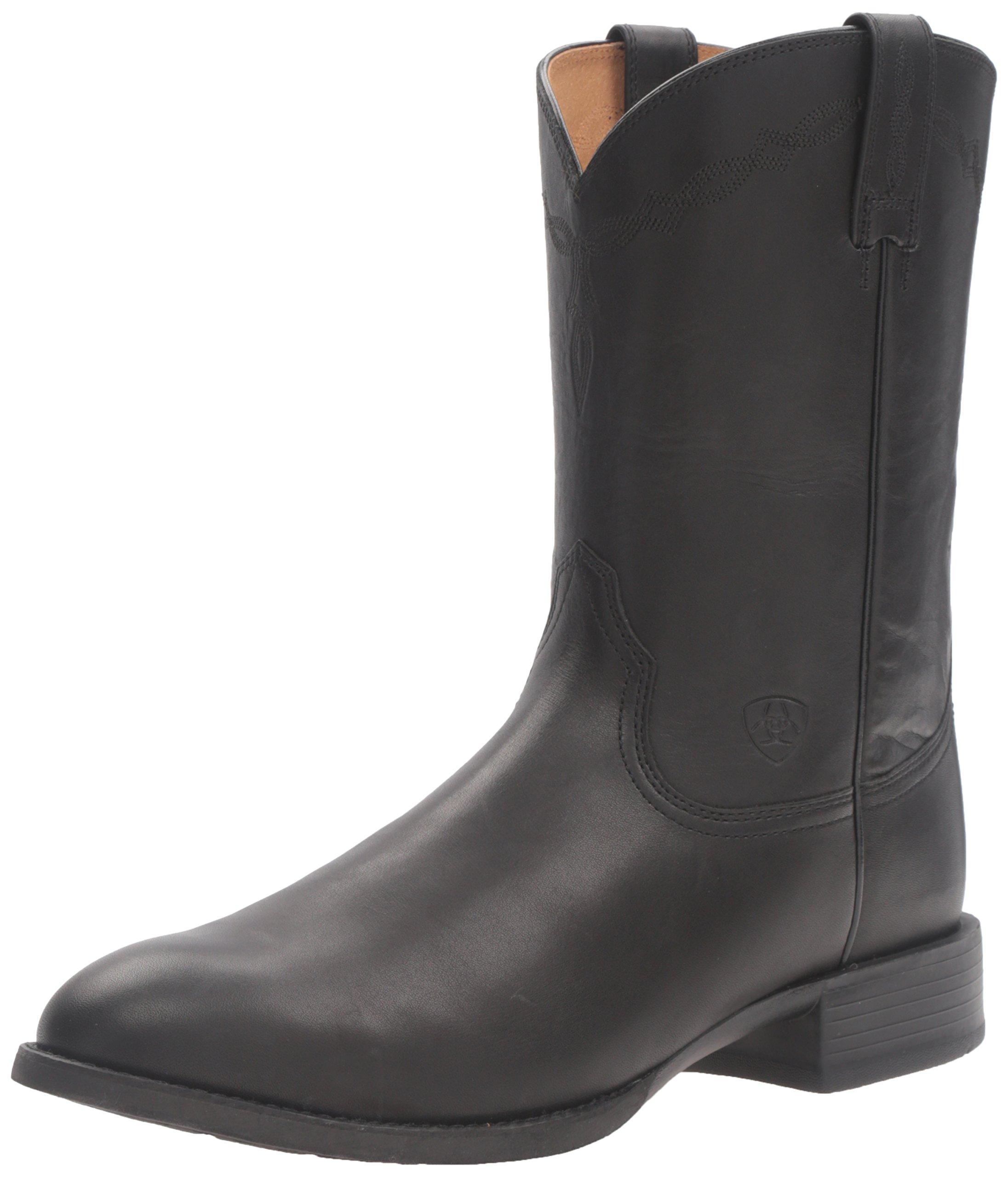 Ariat Women's Heritage Roper Western Cowboy Boot, Black, 7.5 C US
