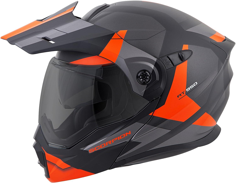 Amazon.com: ScorpionEXO Unisex-Adult Modular/Flip Up Adventure Touring Motorcycle Helmet (Orange, XX-Large) (EXO-AT950 Neocon): Automotive