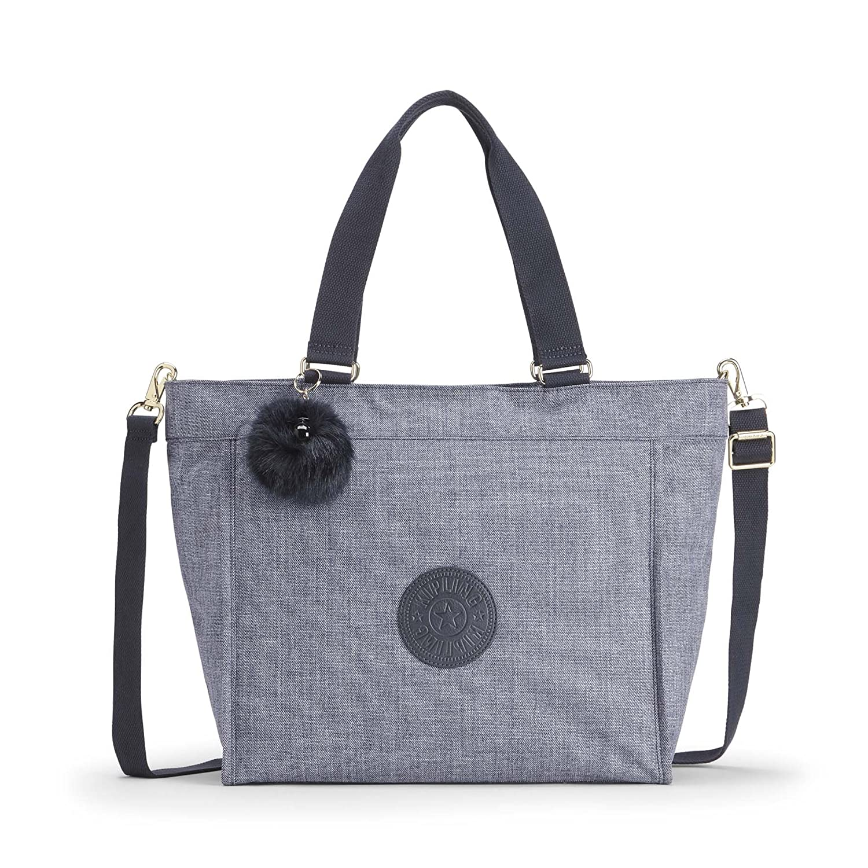 Kipling New Shopper L, Bolso Bandolera para Mujer, 48.5x34x17.5 cm Azul (Cotton Jeans) K16659F27
