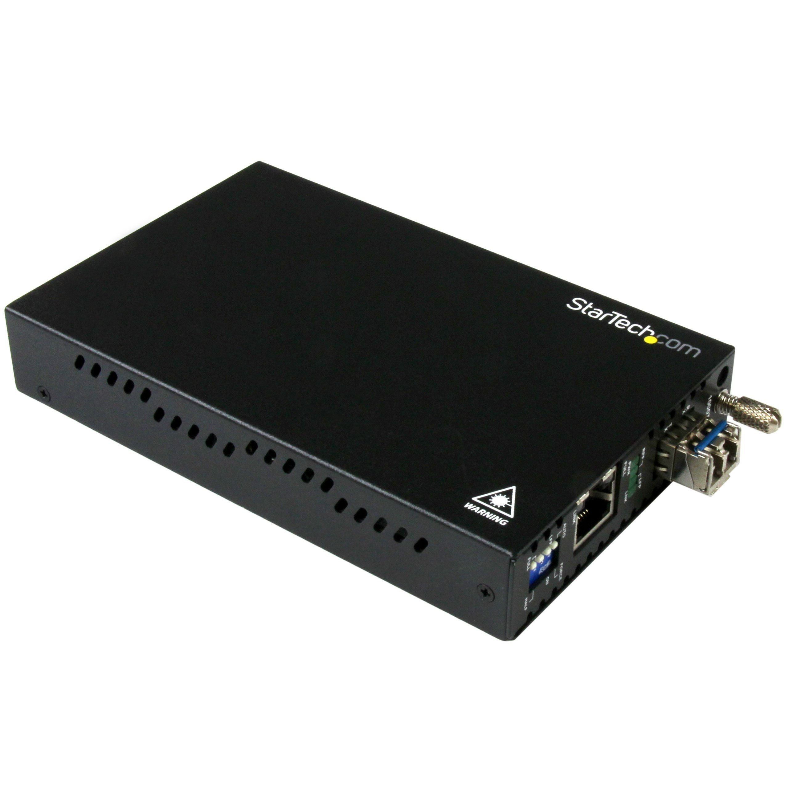 StarTech.com Gigabit Ethernet Copper-to-Fiber Media Converter - SM LC - 10 km ET91000SM10 by StarTech