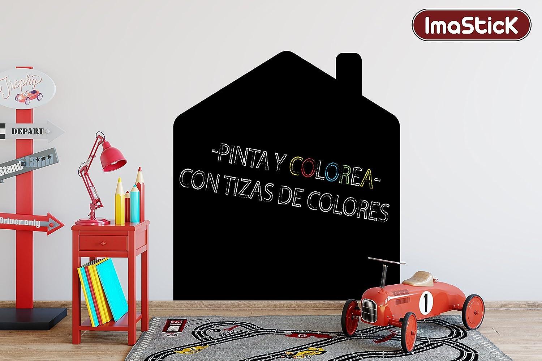 VINILO PIZARRA PARA PARED CON FORMA DE CASA + ROTULADOR TIZA ...