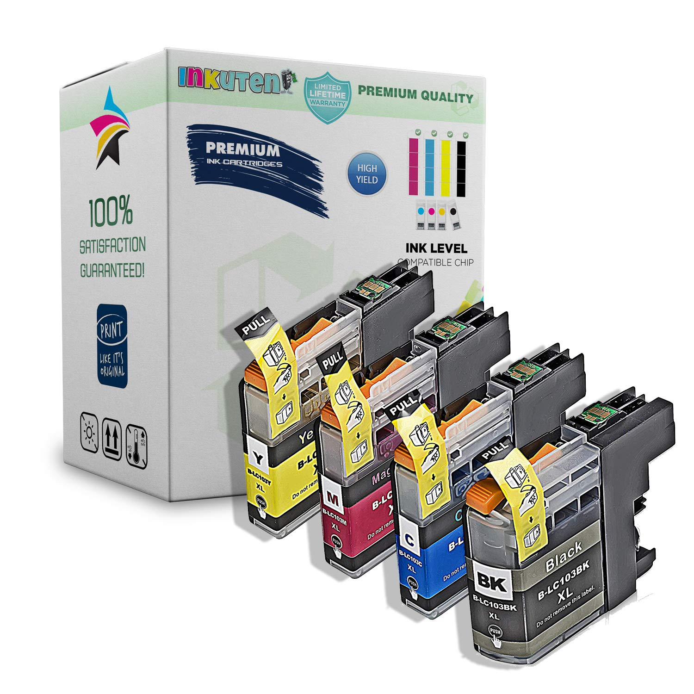INKUTEN – Pack de 4 cartuchos de tinta Brother MFC-J470DW: Amazon ...