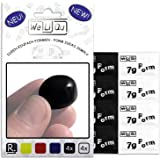 WeLiQu Formbarer Kleber - Geruchlos - Wird richtig hart und stabil - 8 Stück á 7g auf PVC-Basis - 4 x Schwarz, 4 x Weiß