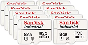 SanDisk Industrial 8GB Micro SD Memory Card Class 10 UHS-I ...