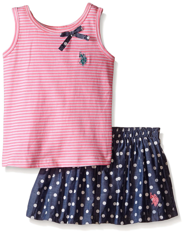 U.S.POLO ASSN. Camiseta de tirantes y de rayas de para niñas Mini ...