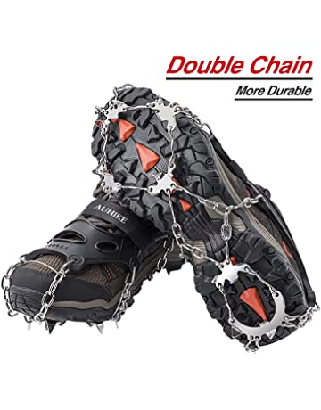 Unisex Springs Shoes Cover Grips Snow Ice Climbing Equipment Crampon Grippers UK