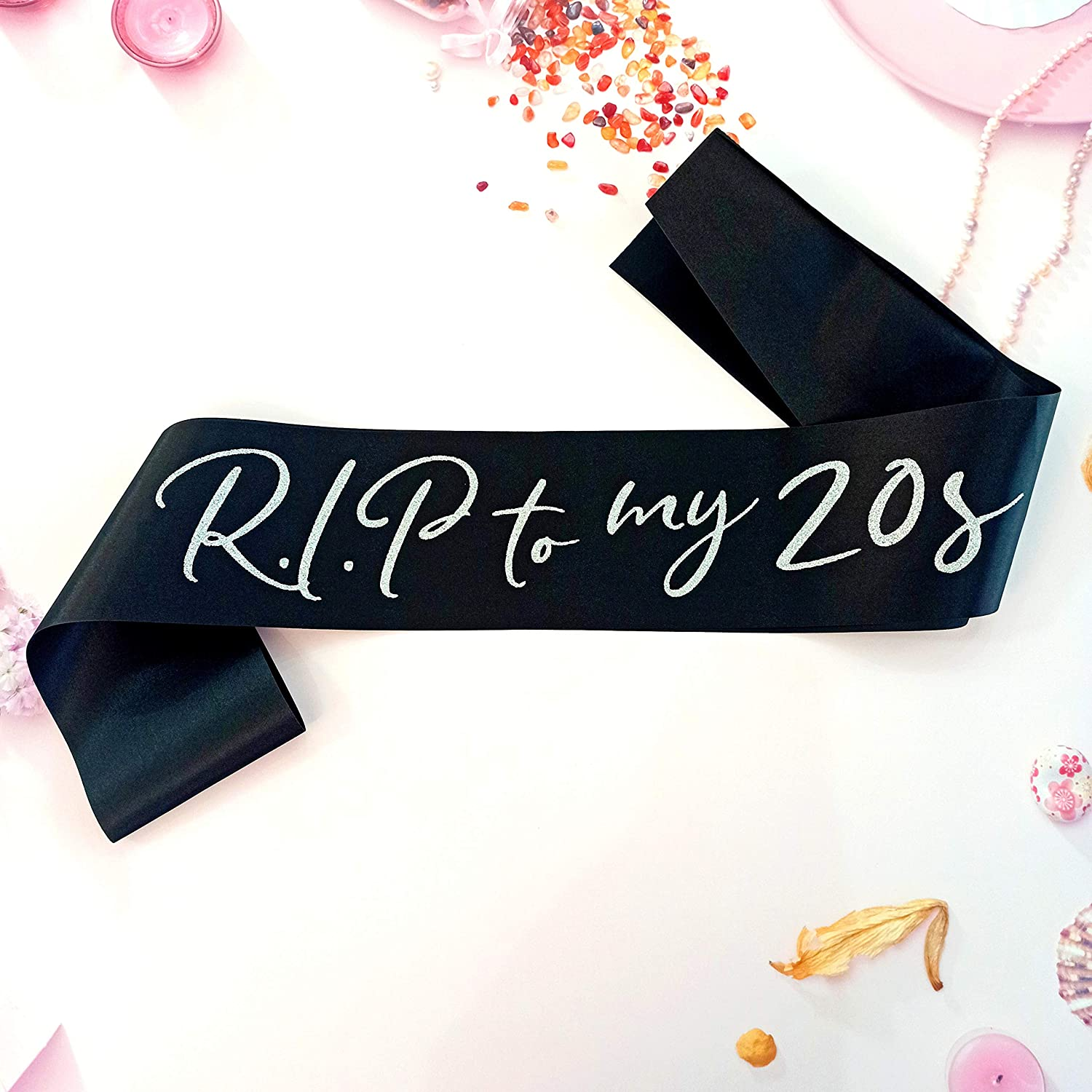 RIP to My 20s Birthday Sash, RIP to My Youth Birthday Decorations for 30th Birthday Girl, Funeral for Youth 30th Birthday Decor, 30 Flirty Dirty Thirty Thriving and Fabulous Birthday Party Supplies