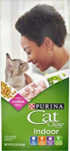 Purina Cat Chow Dry Cat Food, Indoor, 6.3 Lb Bag