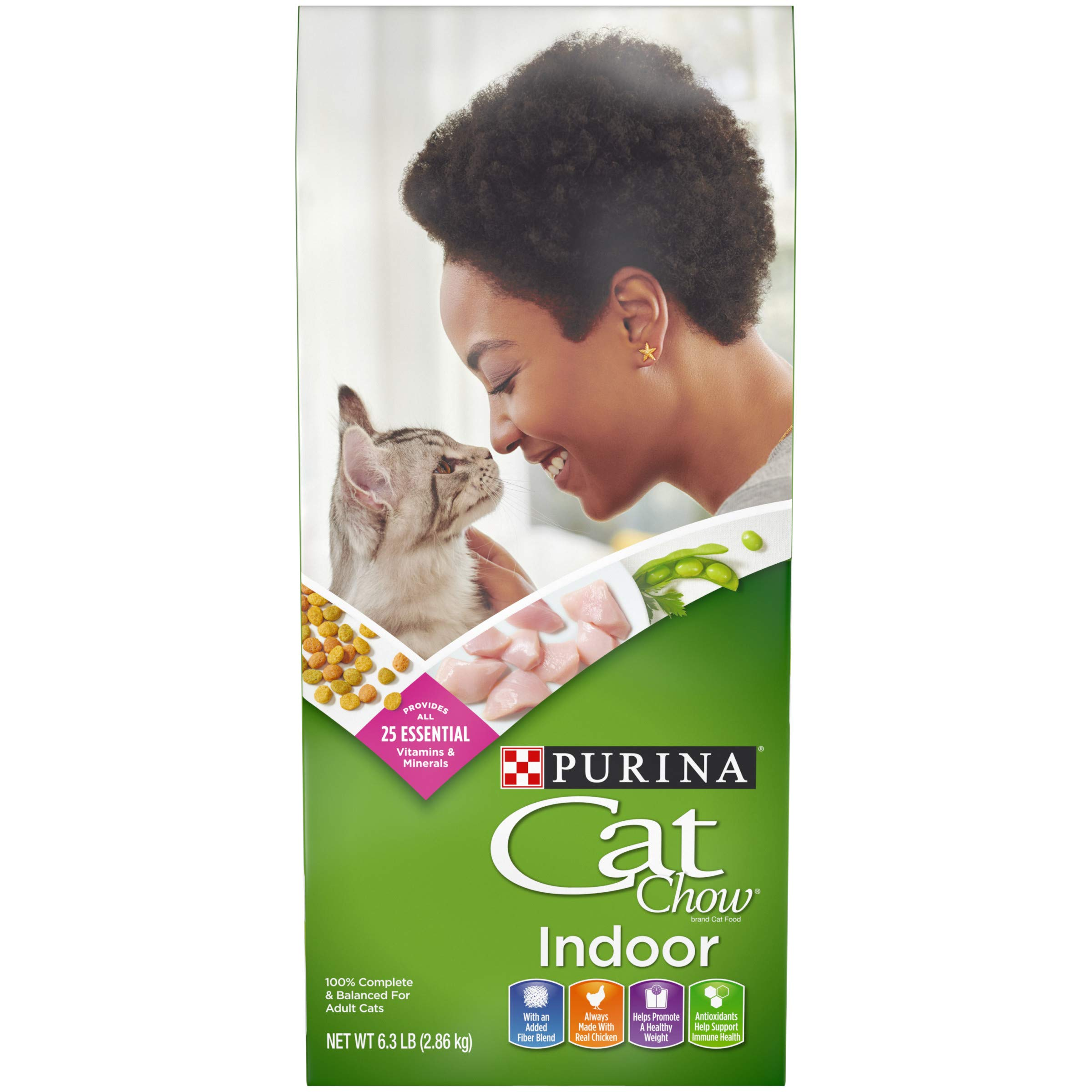 Purina Cat Chow Hairball, Healthy Weight, Indoor Dry Cat Food, Indoor - 6.3 lb. Bag by Purina Cat Chow