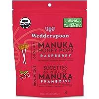 Wedderspoon Organic Manuka Honey Pops for Kids, 117.65g, Raspberry