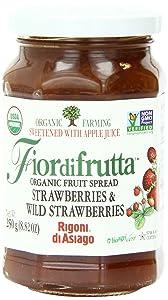 Rigoni di Asiago Fiordifrutta Organic Strawberry Fruit Spread, 8.82 Ounce