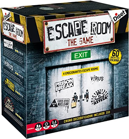 Diset - Escape Room the game (62304): Amazon.es: Juguetes y juegos