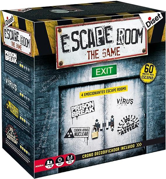 Diset- Escape Room the game - Juego de mesa adulto a partir de 16 años: Amazon.es: Juguetes y juegos