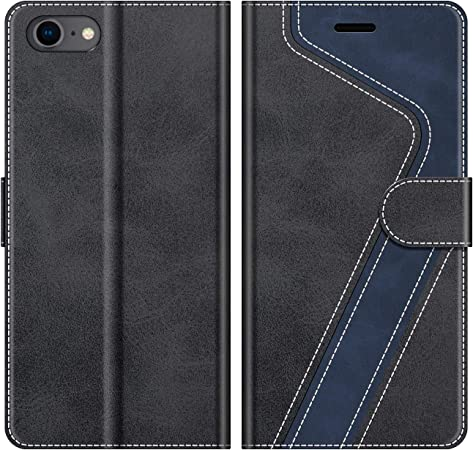 MOBESV Custodia iPhone SE 2020, Cover a Libro iPhone 8, Custodia in Pelle iPhone 7 Magnetica Cover per iPhone SE 2020 / iPhone 8 / iPhone 7, Nero