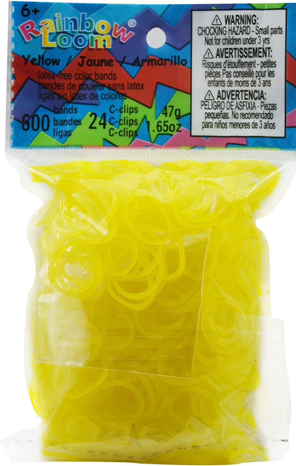 clips-Bracelet Bands fits Rainbow Loom Jelly Yellow Loom Bands 600+24 S