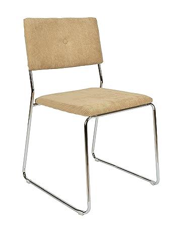 Ts Ideen 1x Design Wohnzimmer Esstisch Küchen Stuhl Esszimmer Sitz Aus Cord  + Metall In