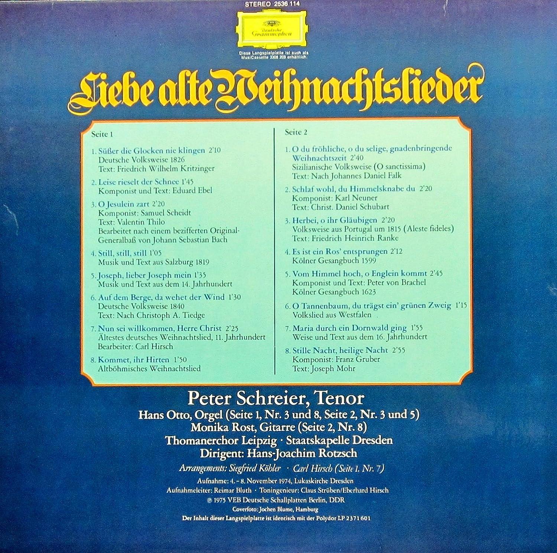 Ddr Weihnachtslieder Texte.Liebe Alte Weihnachtslieder Vinyl Record Vinyl Lp Import