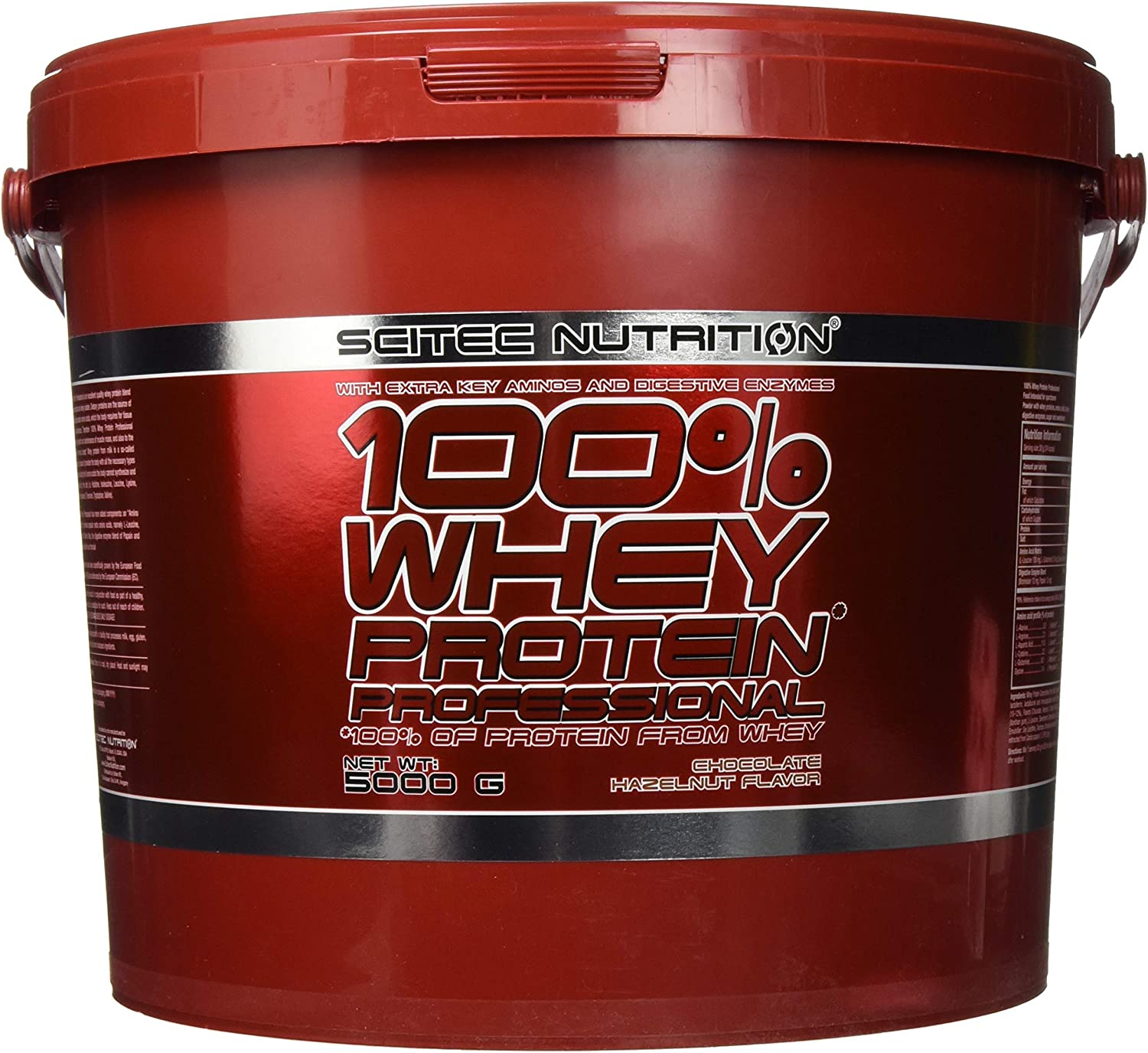 Scitec Nutrition - 100% whey protein professional, 5000g sabor chocolate avellana