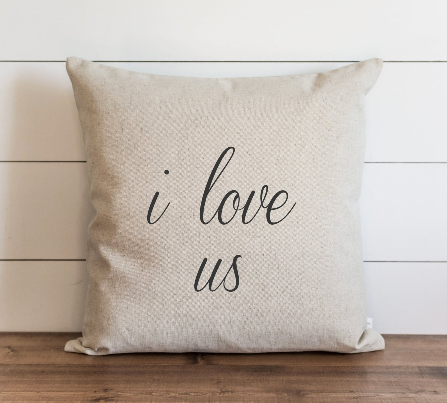 CAROLJU I love us 18 x 18 inch Pillow Cover Everyday Wedding Anniversary Throw Pillow Cushion Cover Gift for them Accent Pillow