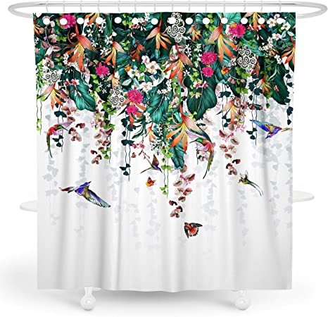 Parrot Blush Waterproof Bathroom Polyester Shower Curtain Liner Water Resistant