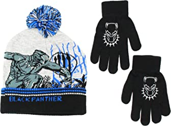 6fbcf399a4a383 KIDS COMIC SUPERHERO LICENSED BEANIE BOYS WINTER HAT & GLOVE SETS