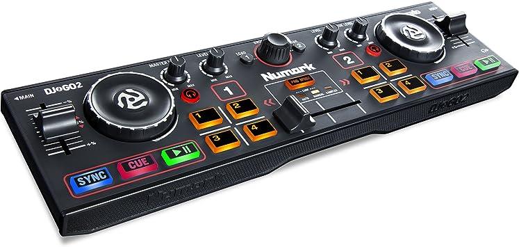 Numark DJ2GO2 - Controlador de DJ Ultraportátil de 2 Canales para ...