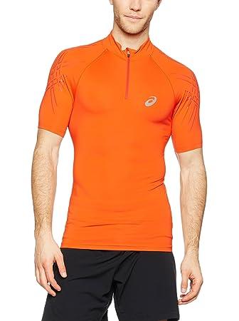 ccd0d71717 Asics T-Shirt Im 1/2 Zip Orange XL: Amazon.de: Sport & Freizeit