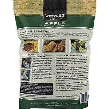 Amazon.com: WESTERN 28065 Briquetas de manzana barbacoa ...