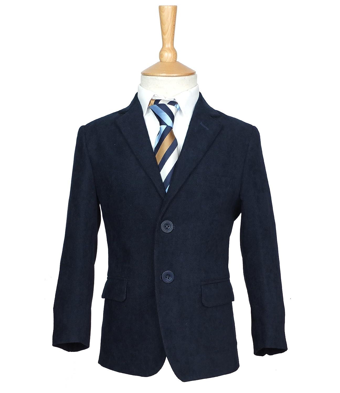 Boys navy gabardine giacca Blazer in blu navy, ragazzi casual formale navy Blazer