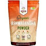 Organic Ashwagandha Powder 250g | All Natural Anxiety Relief, Stress Support & Sleep Aid | Immune, Brain, Thryroid & Fatigue Support | Vegan Friendly Ashwgandha Root Powder to Boost Energy Levels