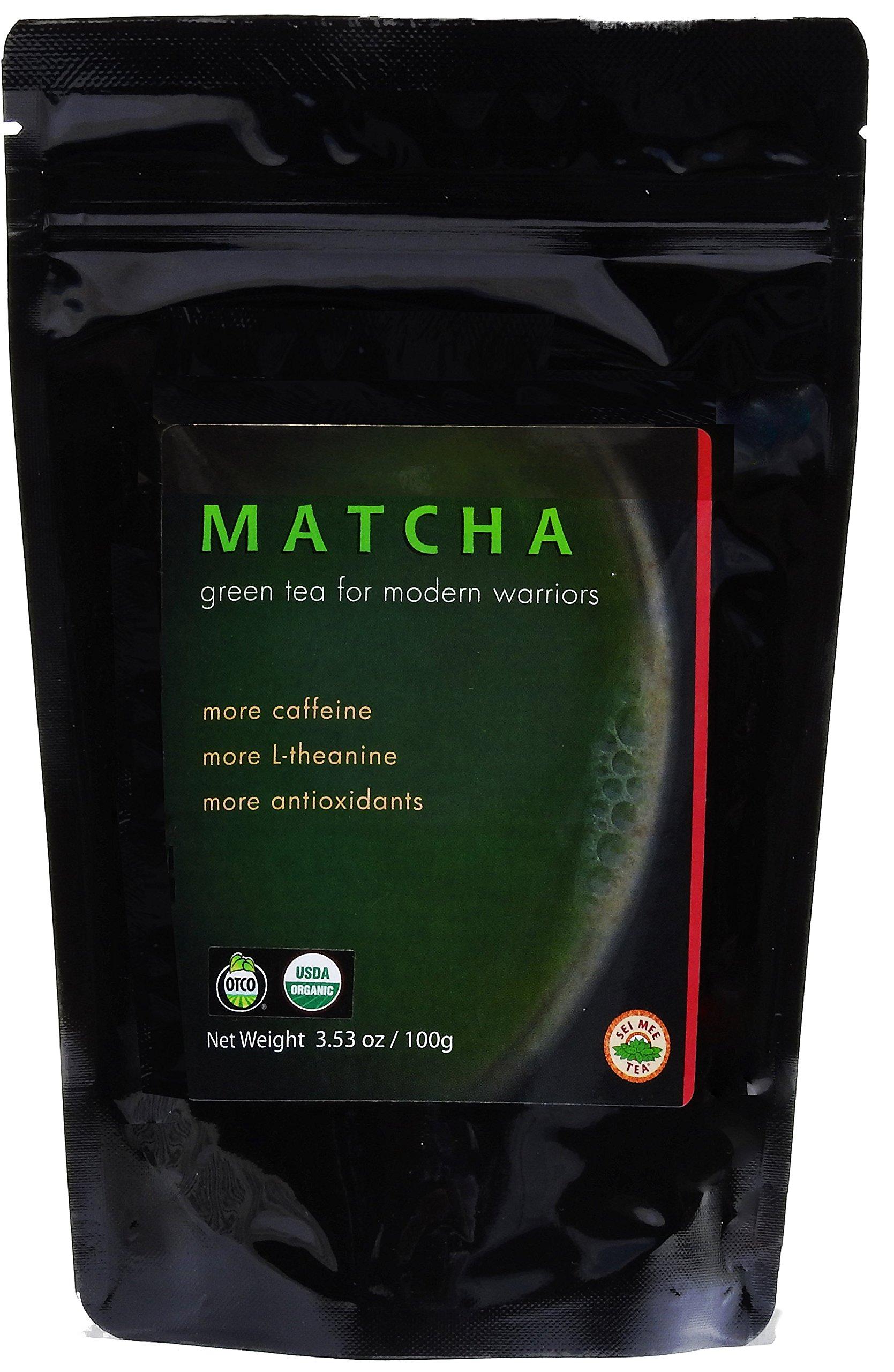 Organic Matcha Green Tea Powder (3.5 oz (100g)) in resealable pouch