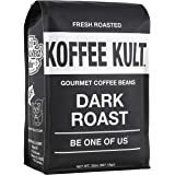Koffee Kult Coffee Beans Dark Roasted - Highest Quality Delicious Organically Sourced Fair Trade - Whole Bean Coffee - Fresh