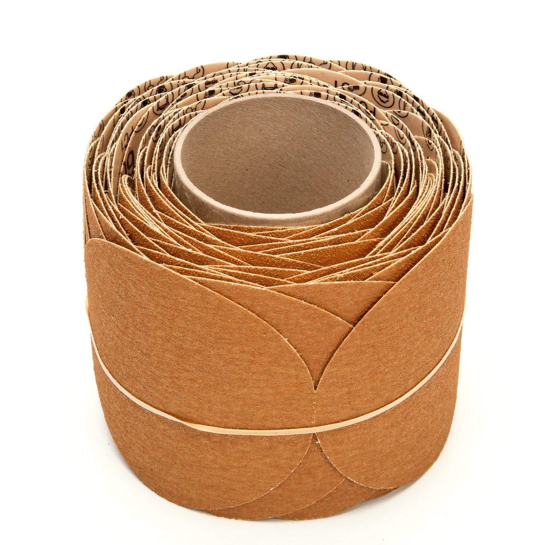3M Stikit Paper Disc Roll 363I, 60 F-weight, 5 in x NH, Die 500X 81yekti7yzL