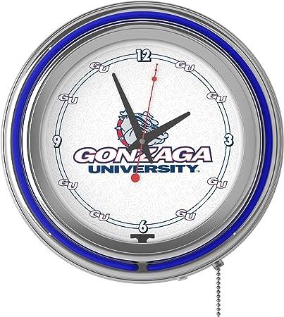 NA Gonzaga University Double Neon Ring Clock