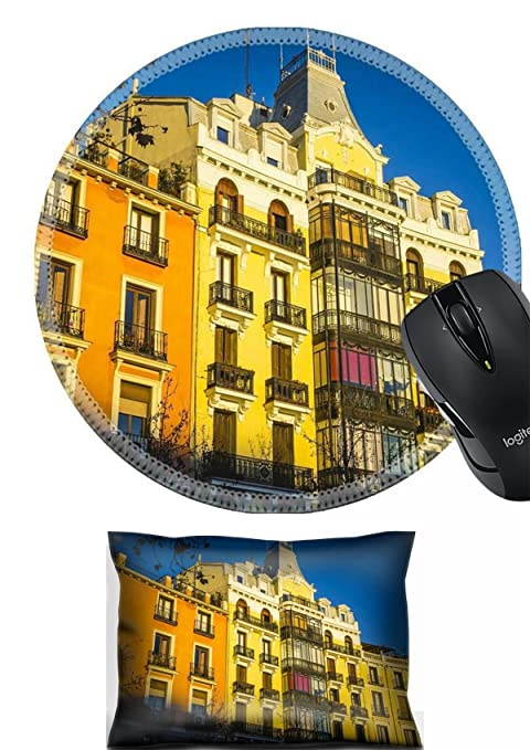 Amazon com : MSD Mouse Wrist Rest and Round Mousepad Set