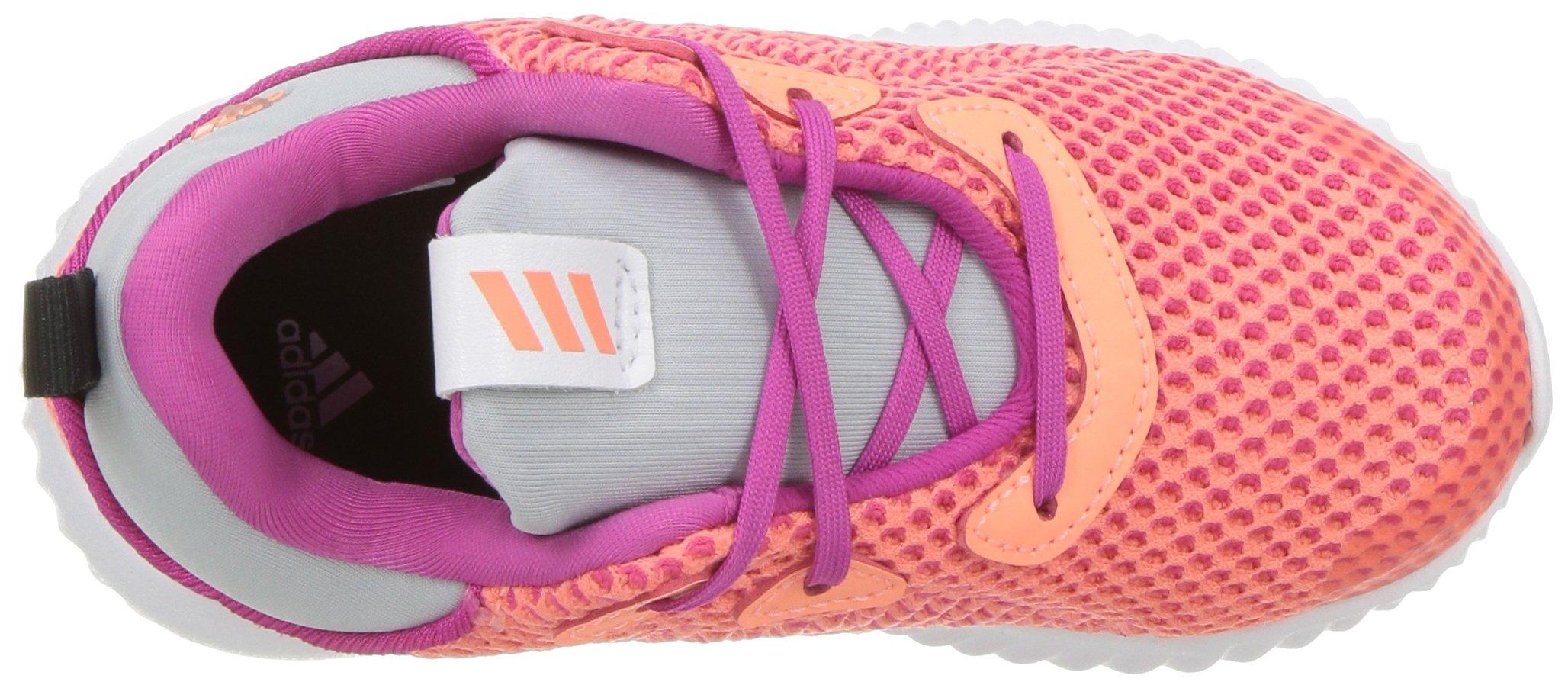 adidas Kids' Alphabounce Running Shoe, Bahia Magenta/Sun Glow/Clear Grey, 4 Medium US Toddler by adidas (Image #8)