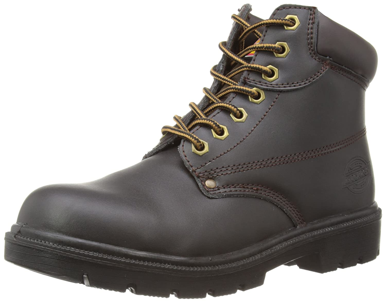 Dickies FA23333 BR 5+ Antrim S1-P Safety Work Boots, Brown, Size 5.5 FA23333 BR 5+