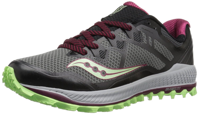 Saucony Women's Peregrine 8 Running Shoe B072MFRX24 5.5 B(M) US|Black/Mint