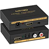 4K HDMI Audio Extractor Splitter, avedio links 1080P HDMI to HDMI Audio Converter + Optical Toslink SPDIF + RCA L/R Stereo An