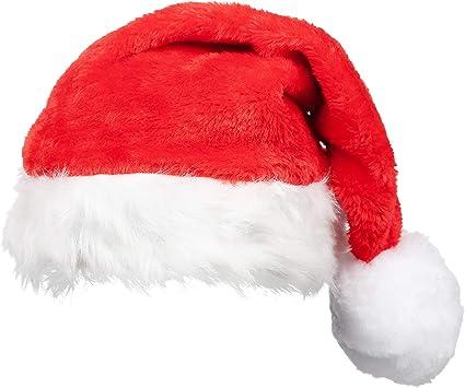Adults Velour Christmas Santa Hat Fancy Dress Father Adult Claus