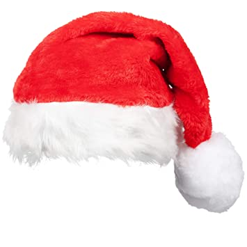 dcd9f972c3 Adult Super Deluxe Santa Hat - Father Christmas Red White Bobble - Santa  Claus Fancy Dress