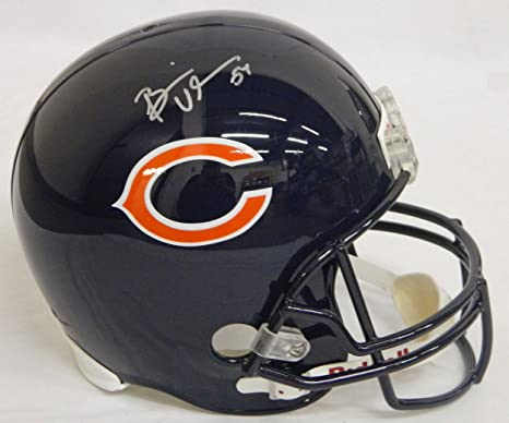 d1a2fd7f64b Amazon.com  Brian Urlacher Autographed Helmet - Replica - Autographed NFL  Helmets  Sports Collectibles