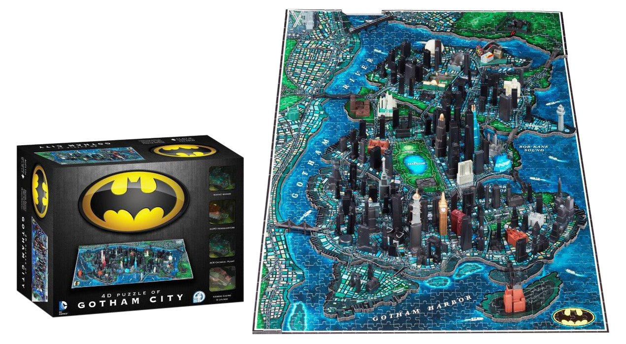 4D Cityscape Batman Gotham City Time Puzzle