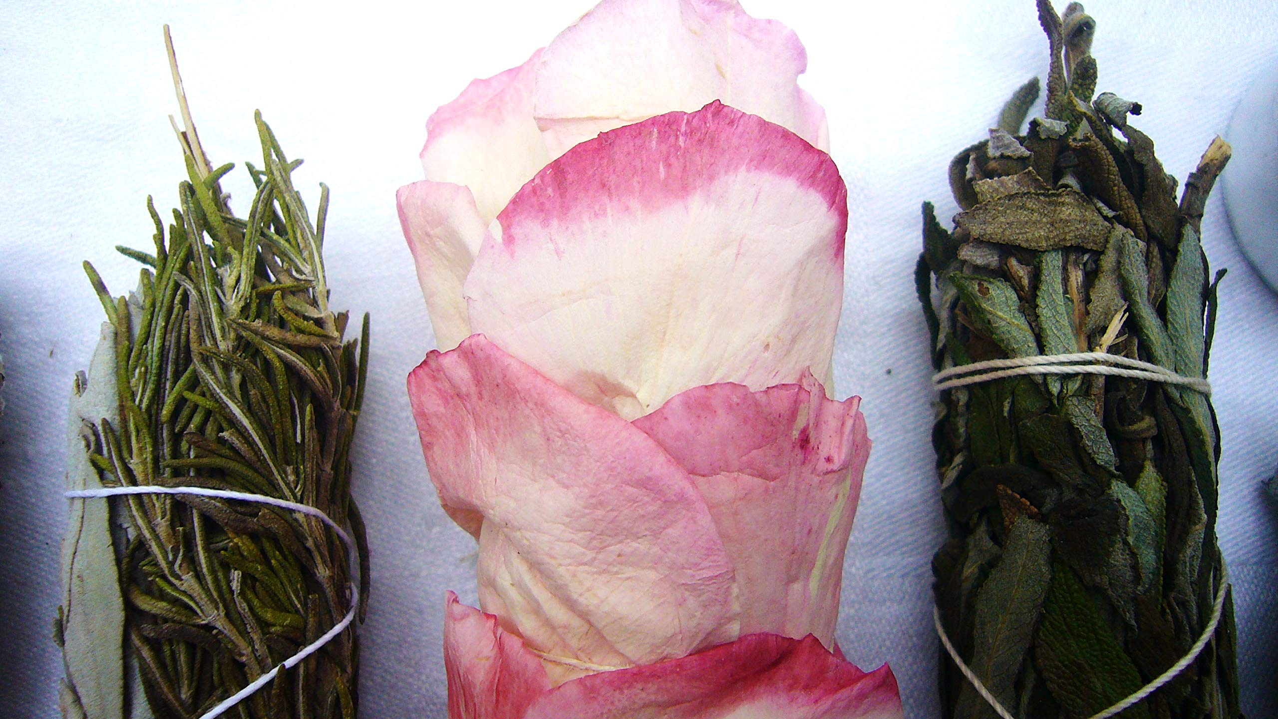 L'AMOUR yes! Luxury Smudge Kit | Rose White Sage, Rosemary, Lavender Smudge Stick, Yerba Santa & Blue Sage, White Sage, Palo Santo, Crystal Candle | Home Cleansing, Blessing, Manifesting, Rituals by L'AMOUR yes! (Image #6)