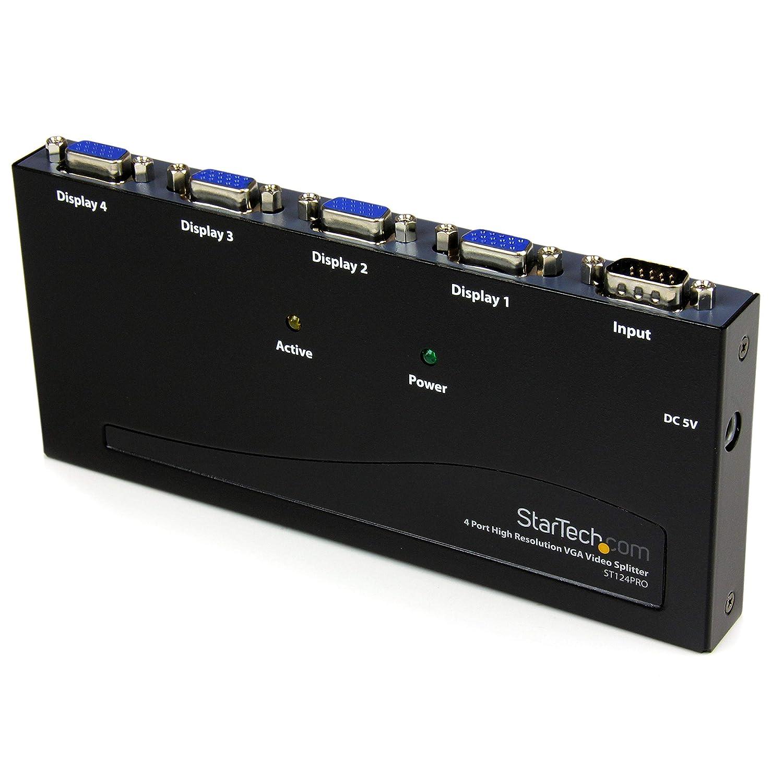 4 Port High Resolution 350 MHz Video Splitter ST124PROEU