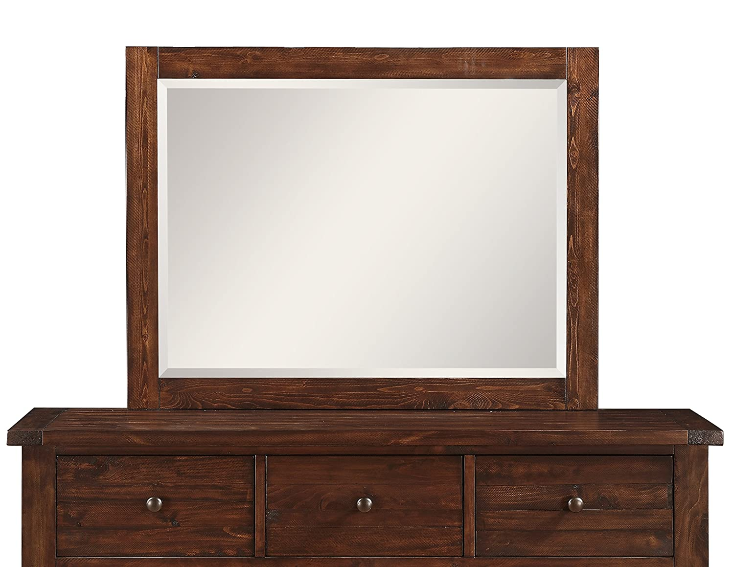 Modus Furniture 9CR183 Cally Solid Wood Mirror, Antique Mocha