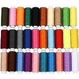 Soledì 30 o 60 Colori Fili Cucito Colorati in Poliestere Strumento per l'Artigianato Fai Da Te (30 Colori)