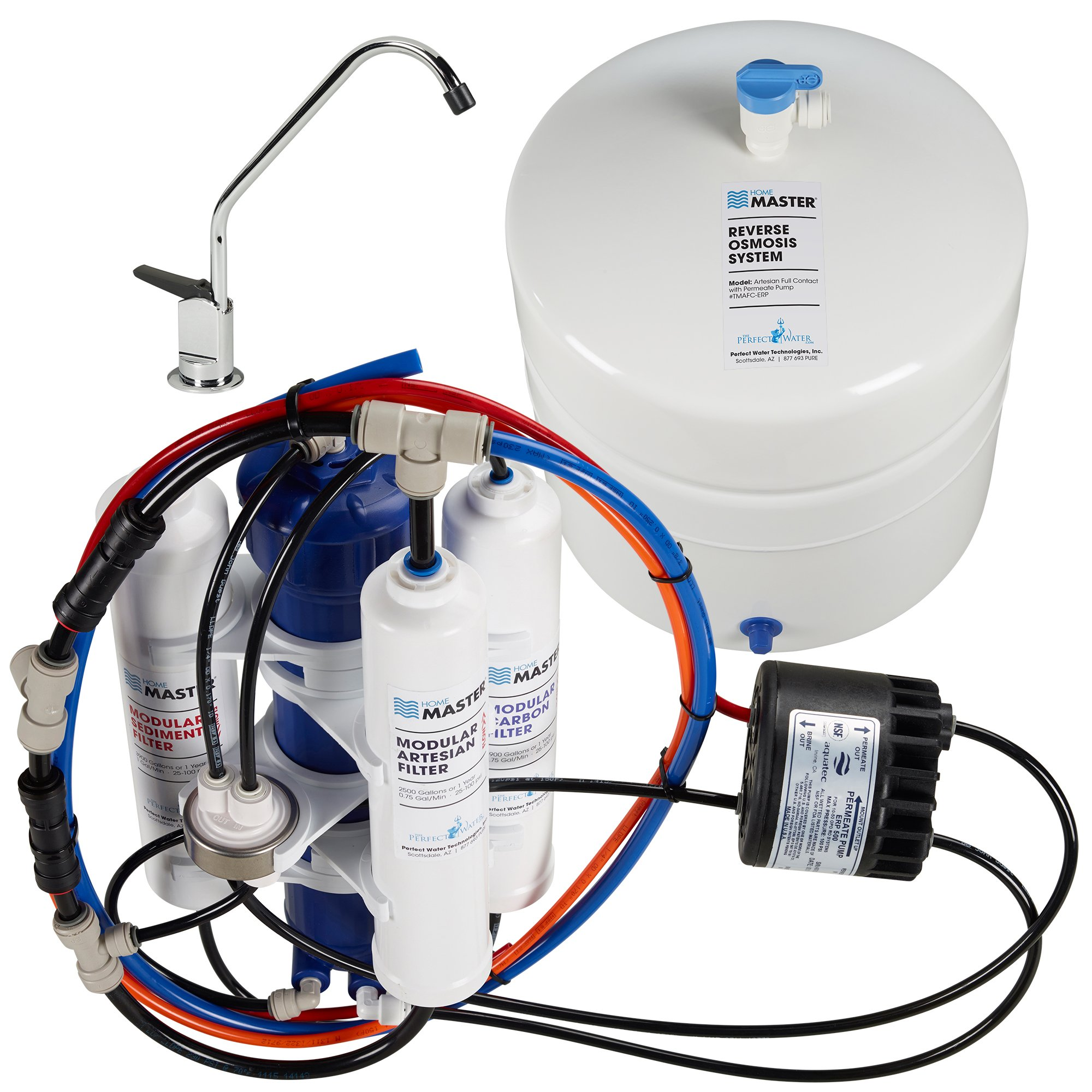 Home Master TMAFC-ERP Artesian Full Contact Undersink Reverse Osmosis Water Filter System by Home Master